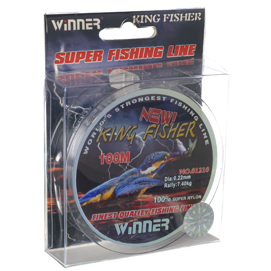 Волосінь winner Кingfisher 0,22mm 100m