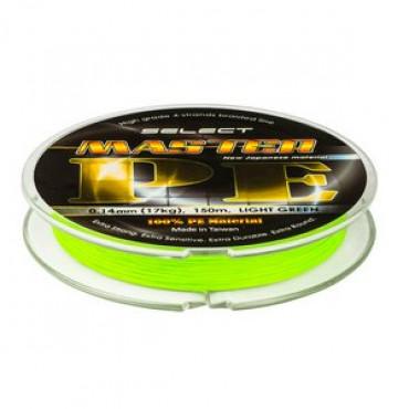 Шнур select master pe (салатовый) 150м