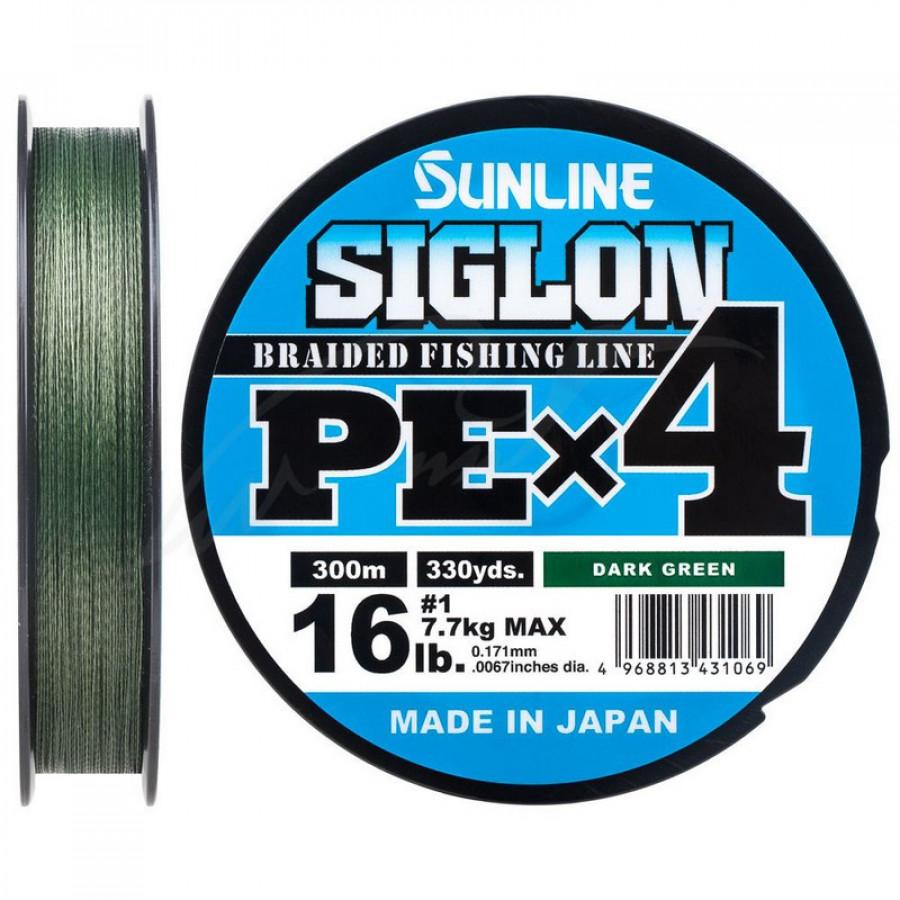 Шнур Sunline Siglon PE х4 150m (темн-зел.) # 2.0 / 0.242mm 35lb / 15.5kg