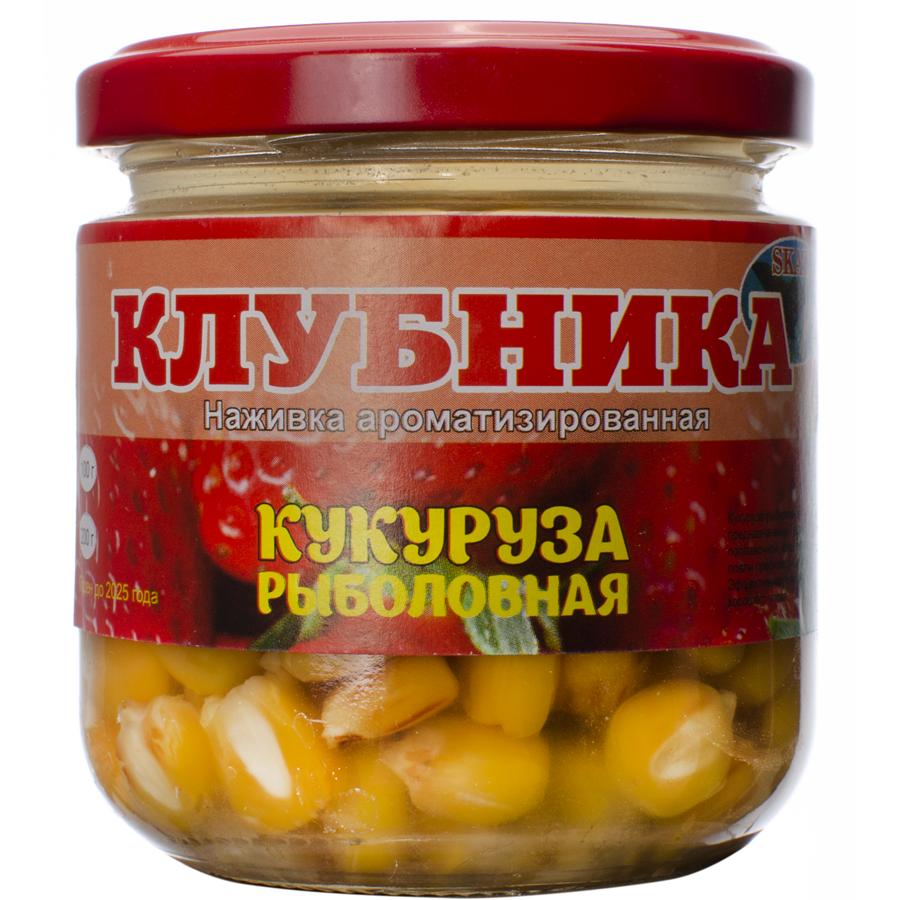 """Рыболовная кукуруза в банке Skat """"Клубника"""""""